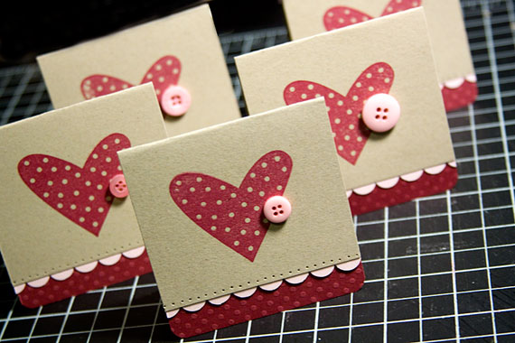 meager beginning with just some 3×3 Valentine's Day cards (sold in sets
