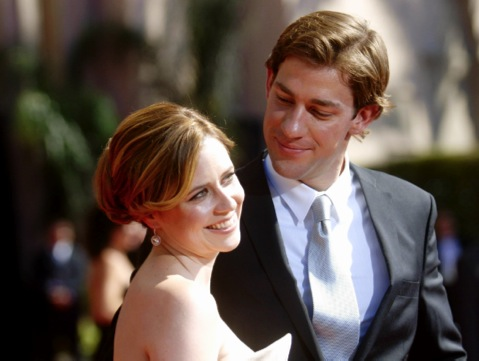 jim and pam actually dating